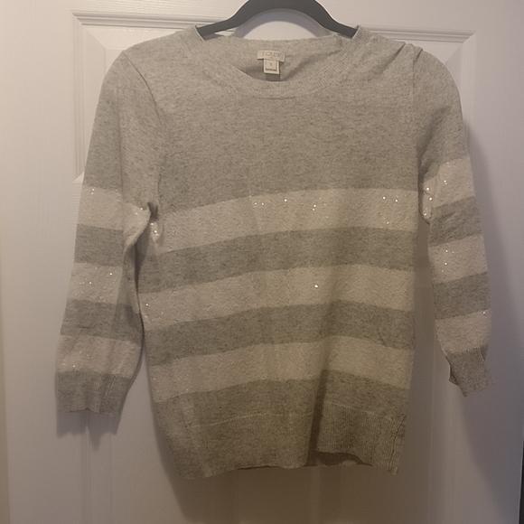J. Crew Factory Merino wool blend sweater